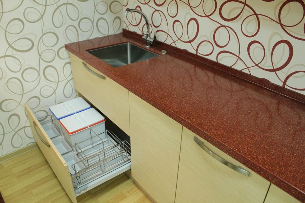 Акриловые кухни-Кухня из пластика «Модель 129»-фото6