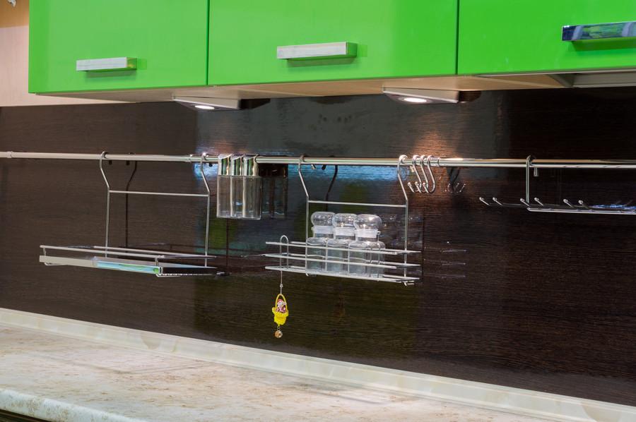 Купить зеленую кухню-Кухня из пластика «Модель 55»-фото6