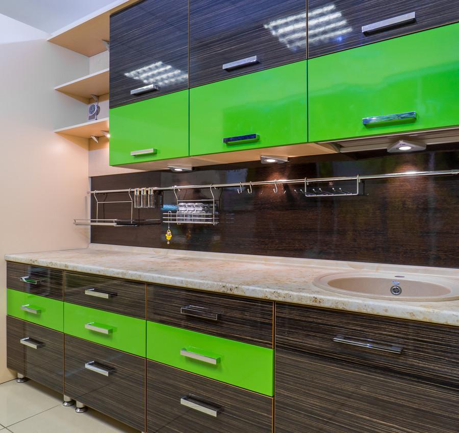 Купить зеленую кухню-Кухня из пластика «Модель 55»-фото4