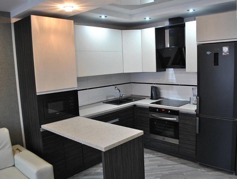 Белый кухонный гарнитур-Кухня из ЛДСП «Модель 453»-фото1