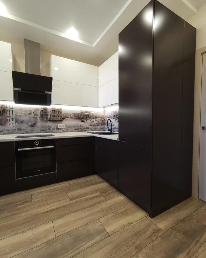 Белый кухонный гарнитур-Кухня МДФ в пленке ПВХ «Модель 93»-фото4