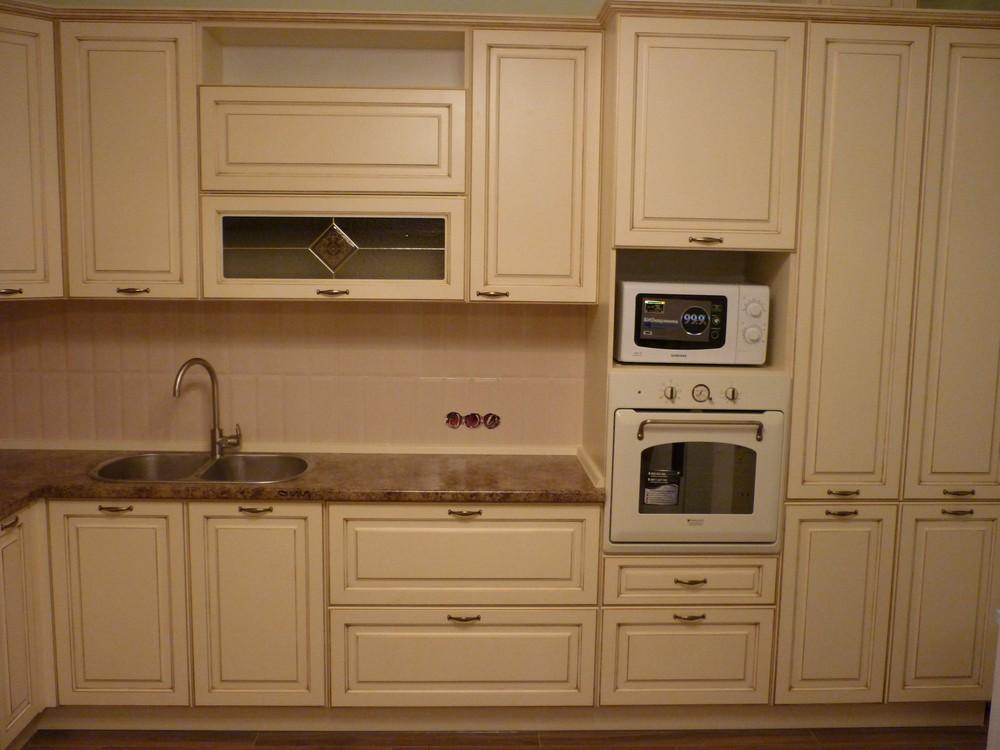 Белый кухонный гарнитур-Кухня из массива «Модель 242»-фото4