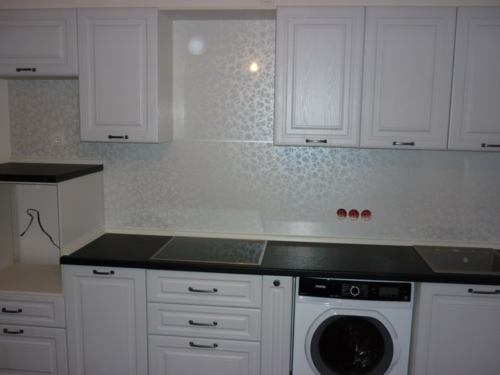 Белый кухонный гарнитур-Кухня МДФ в ПВХ «Модель 241»-фото2