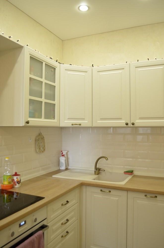 Белый кухонный гарнитур-Кухня МДФ в эмали «Модель 219»-фото2