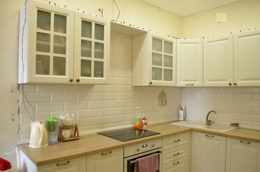 Белый кухонный гарнитур-Кухня МДФ в эмали «Модель 219»-фото3