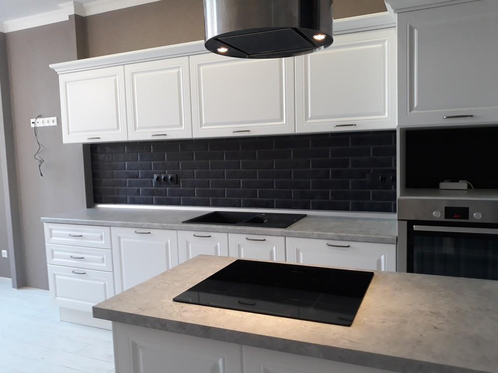 Белый кухонный гарнитур-Кухня МДФ в ПВХ «Модель 280»-фото4
