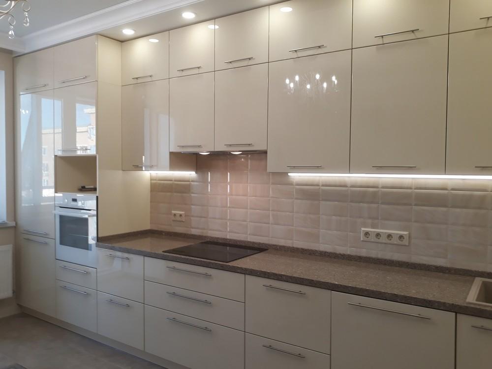 Белый кухонный гарнитур-Кухня МДФ в ПВХ «Модель 279»-фото6
