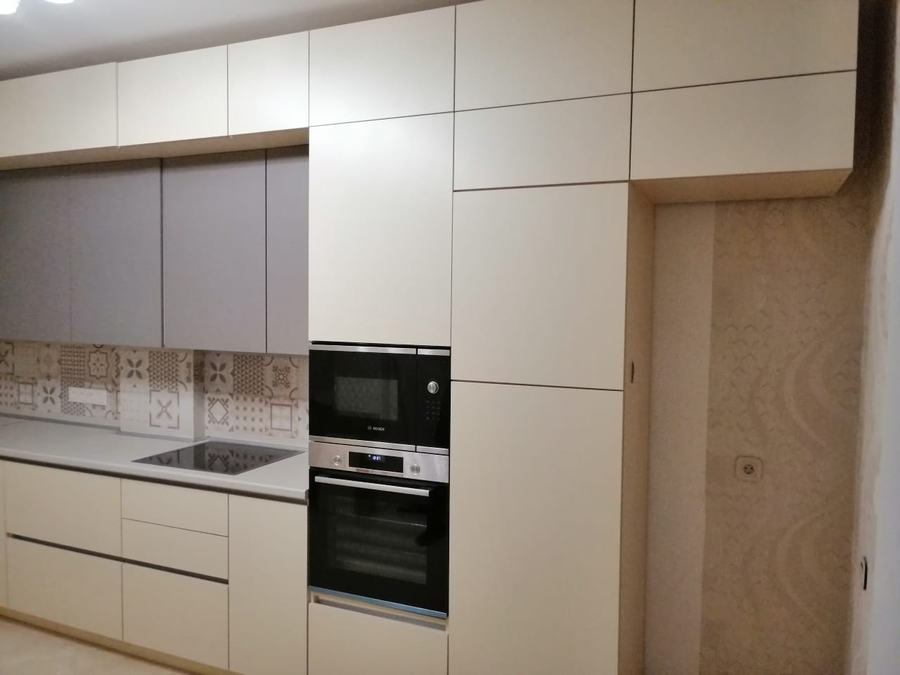 Белый кухонный гарнитур-Кухня из пластика «Модель 339»-фото4