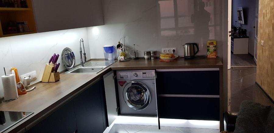 Встроенная кухня-Кухня из пластика «Модель 336»-фото5