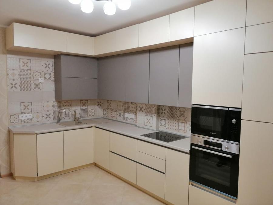 Белый кухонный гарнитур-Кухня из пластика «Модель 339»-фото2