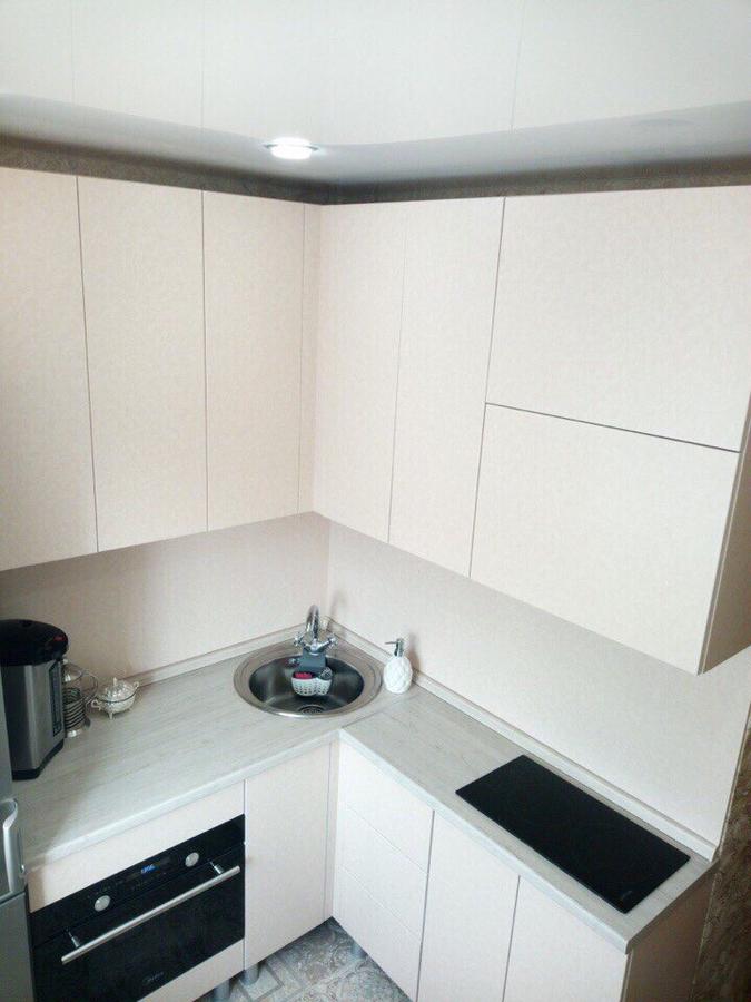 Белый кухонный гарнитур-Кухня из ЛДСП «Модель 390»-фото1