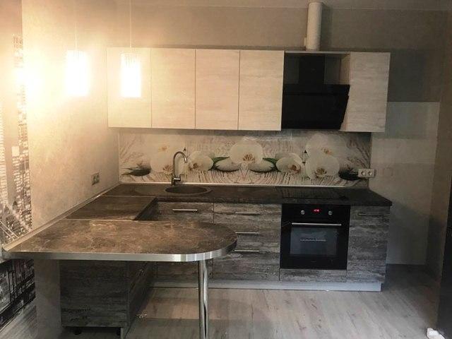 Белый кухонный гарнитур-Кухня из ЛДСП «Модель 397»-фото2