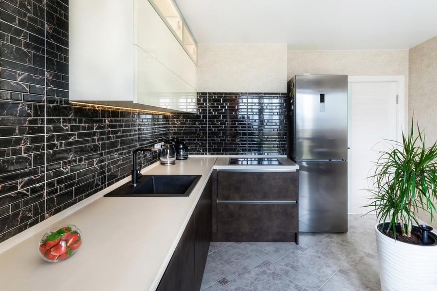 Акриловые кухни-Кухня из акрила «Модель 412»-фото3