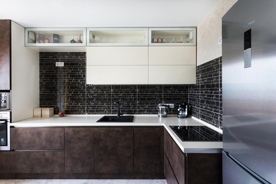 Акриловые кухни-Кухня из акрила «Модель 412»-фото1