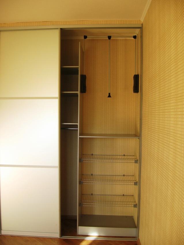 Бельевой шкаф-купе-Шкаф-купе с зеркалом «Модель 439»-фото4