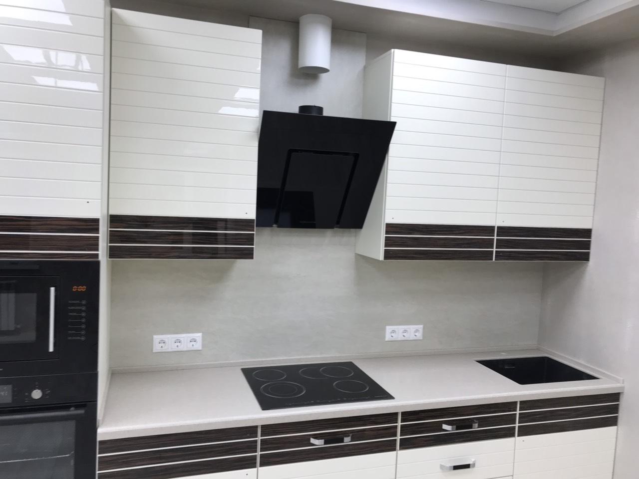 Белый кухонный гарнитур-Кухня из шпона «Модель 524»-фото5
