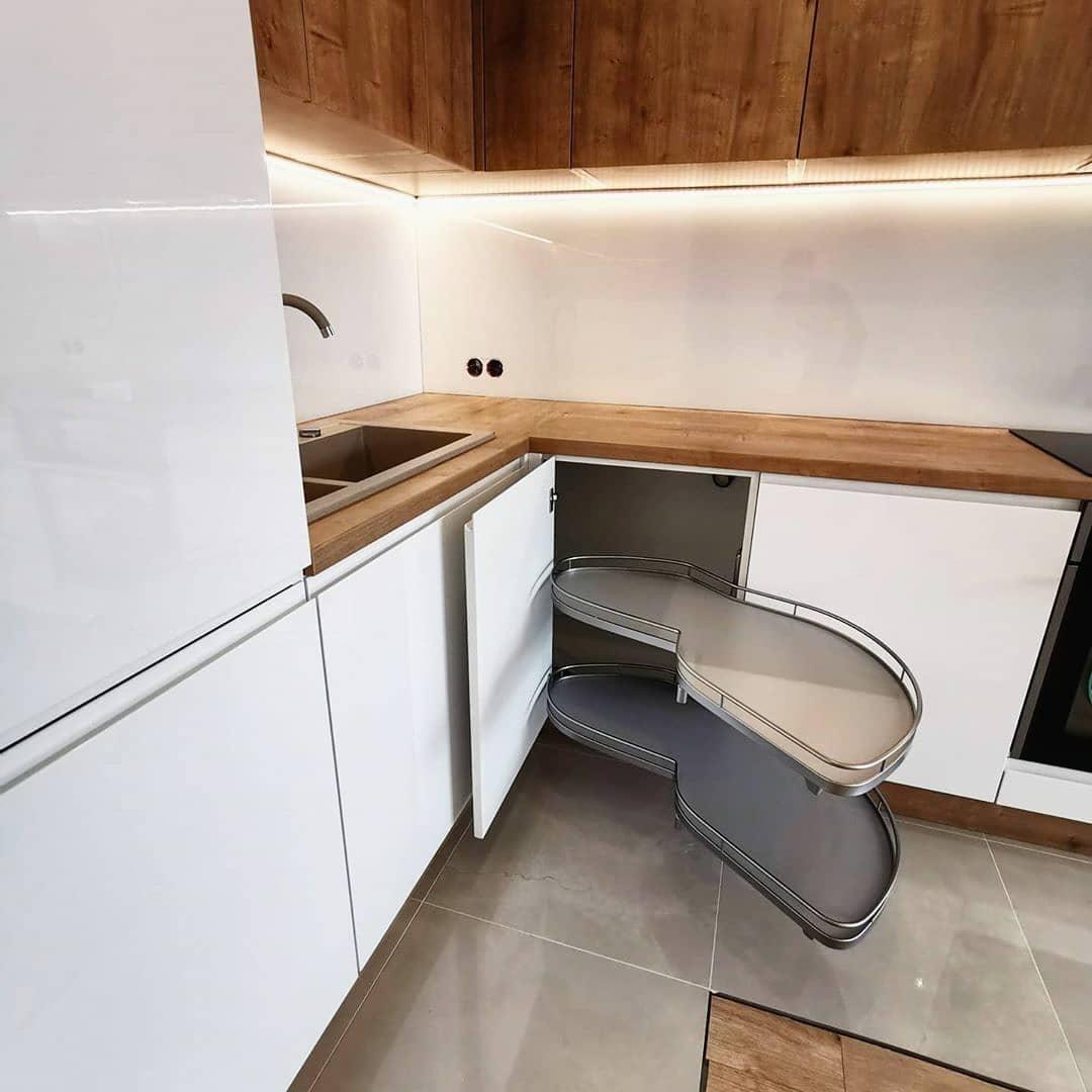 Белый кухонный гарнитур-Кухня МДФ в эмали «Модель 631»-фото4