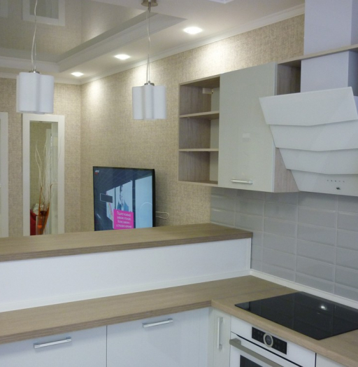 Акриловые кухни-Кухня из пластика «Модель 319»-фото9