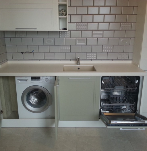 Белый кухонный гарнитур-Кухня МДФ в эмали «Модель 277»-фото4