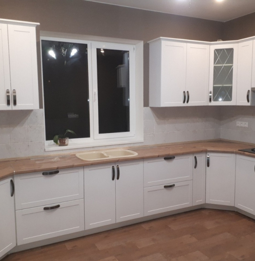 Белый кухонный гарнитур-Кухня «Модель 493»-фото3