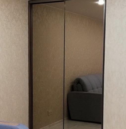 Бельевой шкаф-купе-Шкаф-купе с зеркалом «Модель 269»-фото2