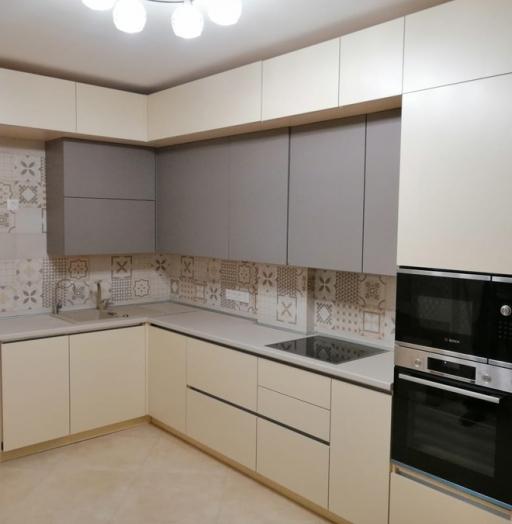 Белый кухонный гарнитур-Кухня из пластика «Модель 339»-фото6