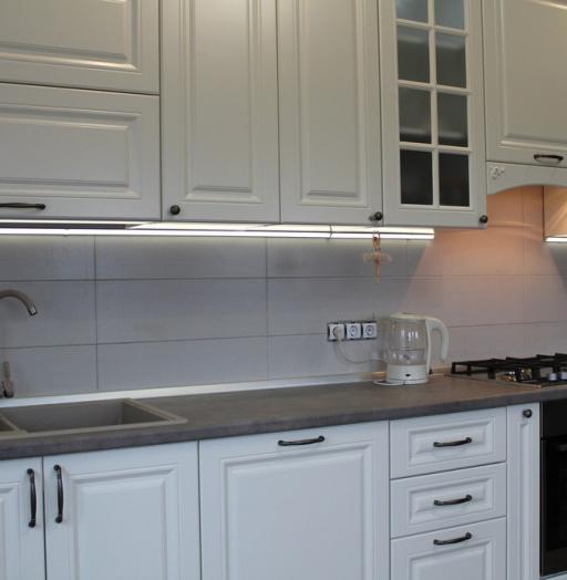 Белый кухонный гарнитур-Кухня МДФ в эмали «Модель 190»-фото8