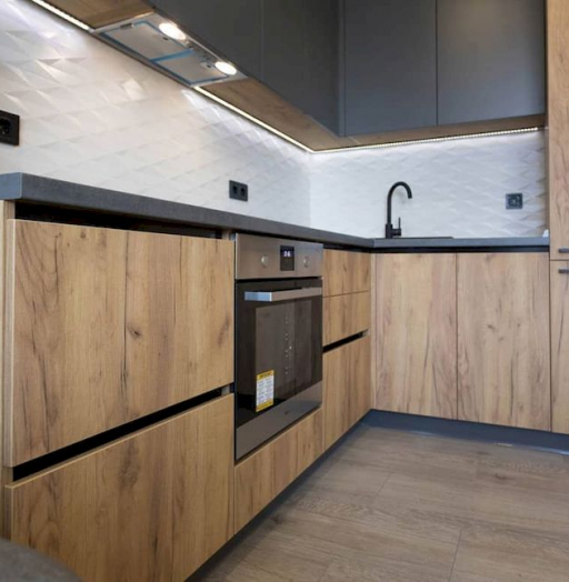 Высокие кухни под потолок-Кухня из пластика «Модель 671»-фото5